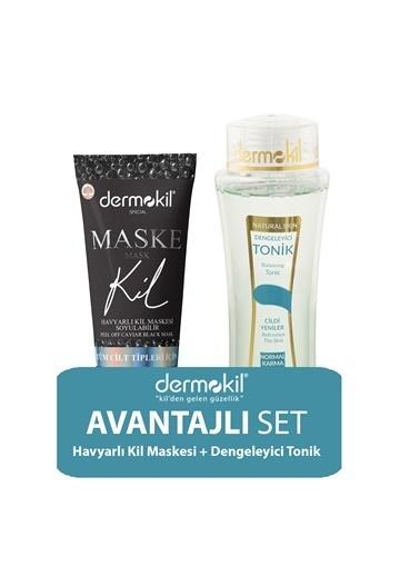 Dermokil Dermokil Siyah Maske 75 ML ve Normal Cilt Tonik 2'li SET Renksiz